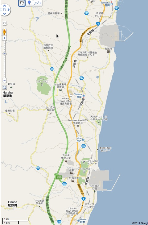 fukushima nuclear power plant on map. Fukushima Nuclear Power