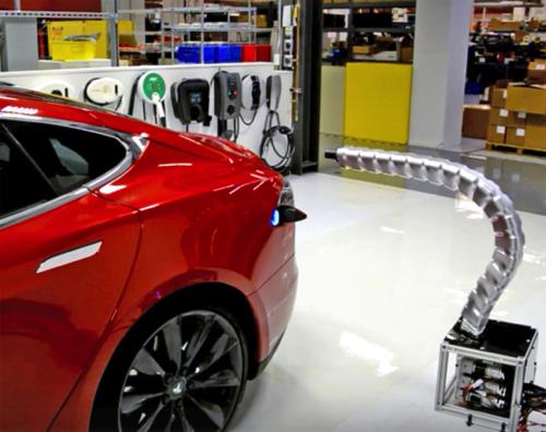 Tesla robot charger